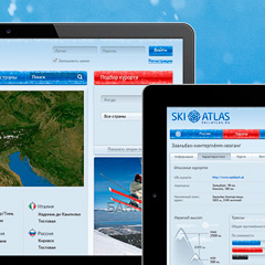 Ski Atlas website design